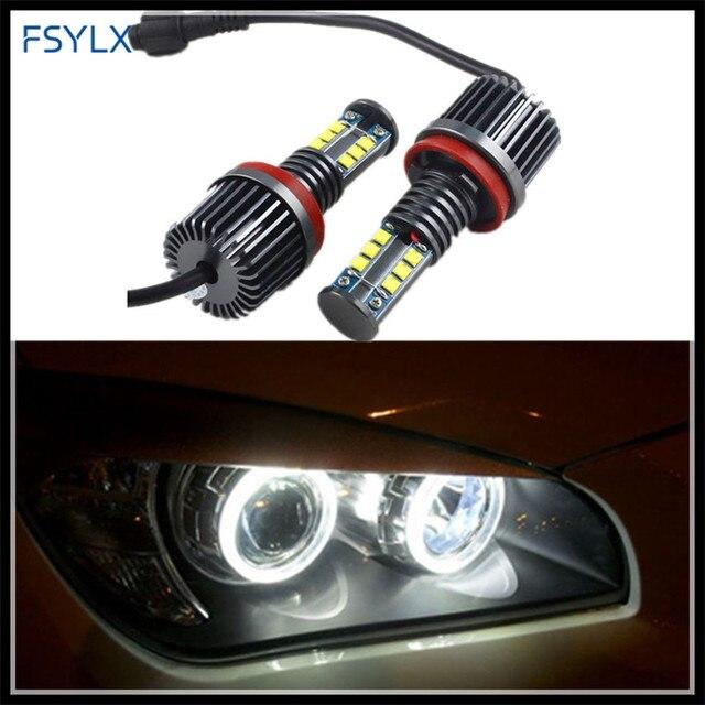 Fsylx H8 120 W LED Ángel Ojos marcador para BMW X5 E70 X6 E71 E90 ... 2d580a86229c