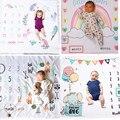 Детское одеяло унисекс для фотосессии новорожденных; фон для фотосессии с изображением животных из мультфильмов для малышей; памятный день; ежемесячный фон для фотосессии - фото
