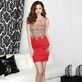 Sexy Red Short Cocktail Dresses 2016 for Juniors robe de Cocktail Party Dress vestido de festa curto de luxo