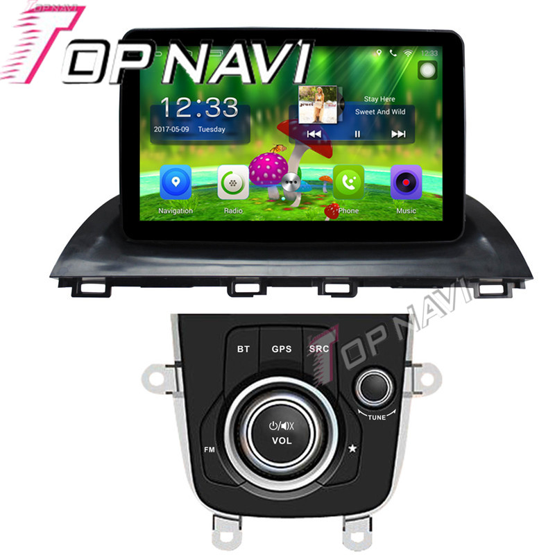 Topnavi 10.1'' Quad Core Android 6.0 Car GPS Navigation For Mazda Atenza 2014 Radio Audio Multimedia Stereo Without DVD
