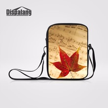 Dispalang Maple Leaf Prints Small Messenger Bag Music Note Crossbody Bags  For Women Kids Shoulder Book 5aefe0c95f6a9