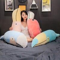 Big Size Plush Flamingo Toucan Pillow Plush Toys Stuffed Animal Plush Parrot Toy Dolls Kids Girls Birthday Gift Home Sofa Decor