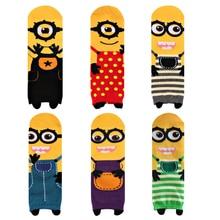 women Girl Cute Minion Despicable Me Printing Tube Socks cute cartoon sox summer South Korean style Fashion Cotton Socks meias