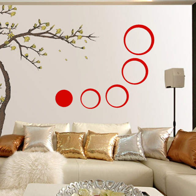 Mirror Rings  Wall Sticker