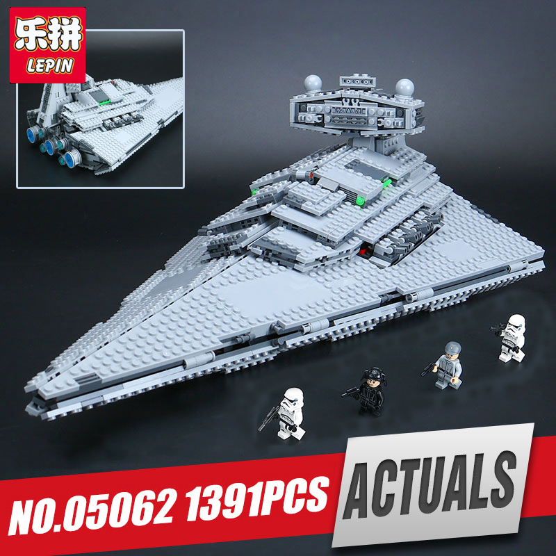 Lepin 05062 Genuine Star Series The Star model Destroyer Set legoing 75055 Building Blocks Bricks Educational Wars Toys for gift new 1685pcs lepin 05036 1685pcs star series tie building fighter educational blocks bricks toys compatible with 75095 wars