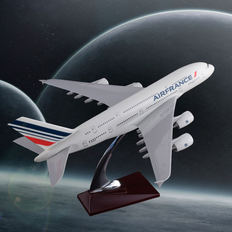 36CM Airbus A380 French Airlines Model Air France Airways Airbus Model France International Resin Aircraft Model Travel Souvenir 36cm resin a380 great british airplane model england airlines airways model plane aircraft stand craft british a380 airbus model
