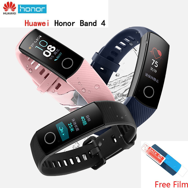 Original Huawei Honor Band 4 bracelet intelligent chaussure boucle Impact terrestre fréquence cardiaque sommeil Snap Monitor 0.95 Touchpad bracelet | AliExpress