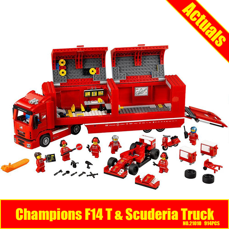 Lepin 21010 914pcs Technic Speed Champions F14T & SCUDERIA TRUCK Building Blocks Figures Bricks Toy Compatible With 75913 scovo мт 018