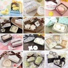 20 шт./лот Baby Shower подарок Мыло ароматические подарок на свадьбу с посылка коробка праздничные сувениры