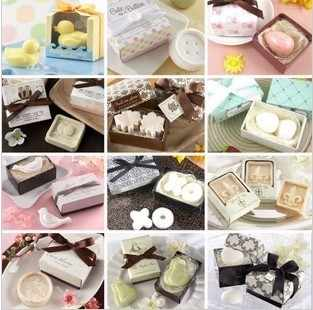 20pcs/lot Baby Shower Gift Soap Scented wedding Favor Gift with Package Box Party Souvenirs