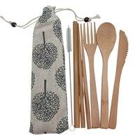 Portable Bamboo Tableware Set 3