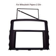 De alta calidad nuevo Doble Din fascia para Mitsubishi Pajero DVD Radio Stereo Dash Panel De Montaje de Instalación Kit de Acabado Marco de La Cara
