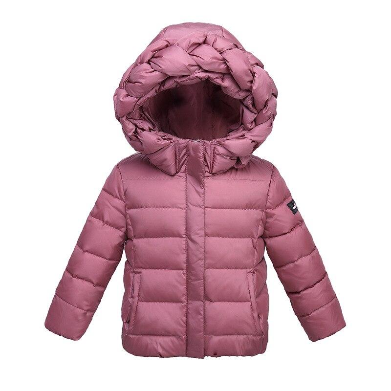 Nouvelle mode enfants doudoune en hiver fille à capuche doudoune bébé chaud manteau enfants vêtements