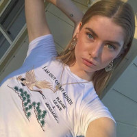 Letter Embroidery Women Harajuku Shirt Crop Top Unif Omighty Sexy Street Wear White Femme Short Sleeve