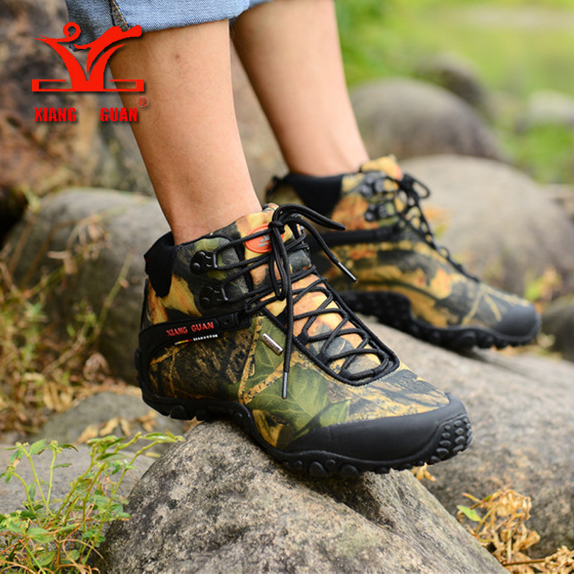 XIANGGUAN Man Outdoor Shoes hiking boots Waterproof Breathable Hiking Shoes For Women Climbing Outdoor Trekking Sneakers SIZE 36 xiangguan man hiking shoes men waterproof trekking boots green breathable sport mountain climbing shoe outdoor walking sneakers