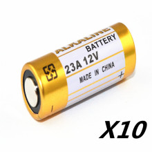10 pieces/batch of small batteries 23A 12V 23AE A23 23GA alkaline battery