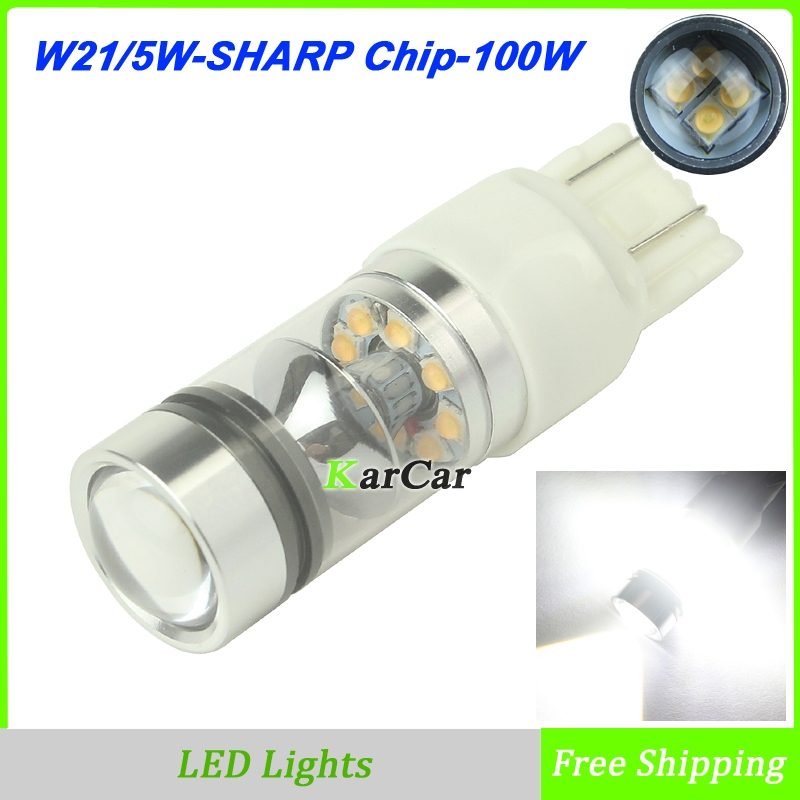 Yüksək gücü 100W 850LM W21 / 5W Avtomobil LED Əyləc İşıq - Avtomobil işıqları - Fotoqrafiya 1