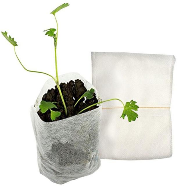 New Arrival,100pcs/set   8*10cm non-woven fabric Seedling Raising Bags Nursery Pots row bag planter bag  Home Garden Supplies.