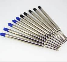 10 шт. универсальные стандартные черные и синие чернила 0,7 мм, шариковая ручка среднего размера для заправки