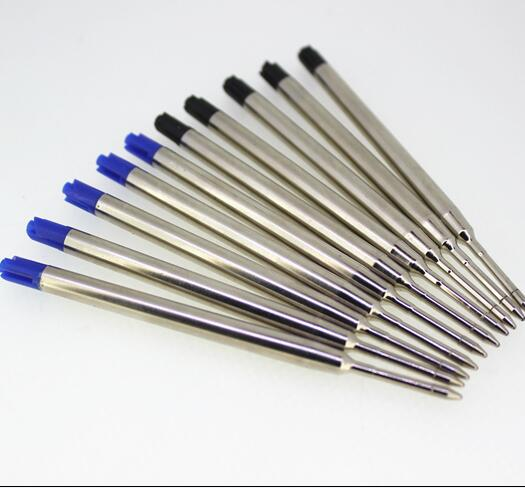 10pcs Universal Standard Style Black And Blue Ink 0.7MM Medium Nib Ball Point Pen Refills