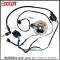 WIRE HARNESS CDI Coil MAGNETO STATOR Kill Switch Spark Plug 125cc PitDIRT BIKE