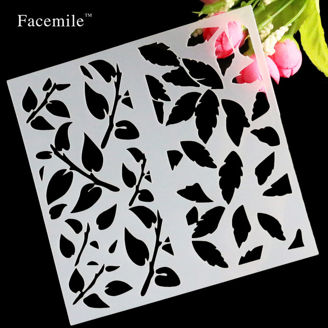 flowers leaves scrapbooking tool card album masking spray painted template drawing stencils laser cut templates free
