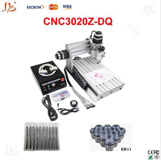 Best price! Ball screw CNC Router 3020Z-DQ mini cnc milling machine+cnc kit
