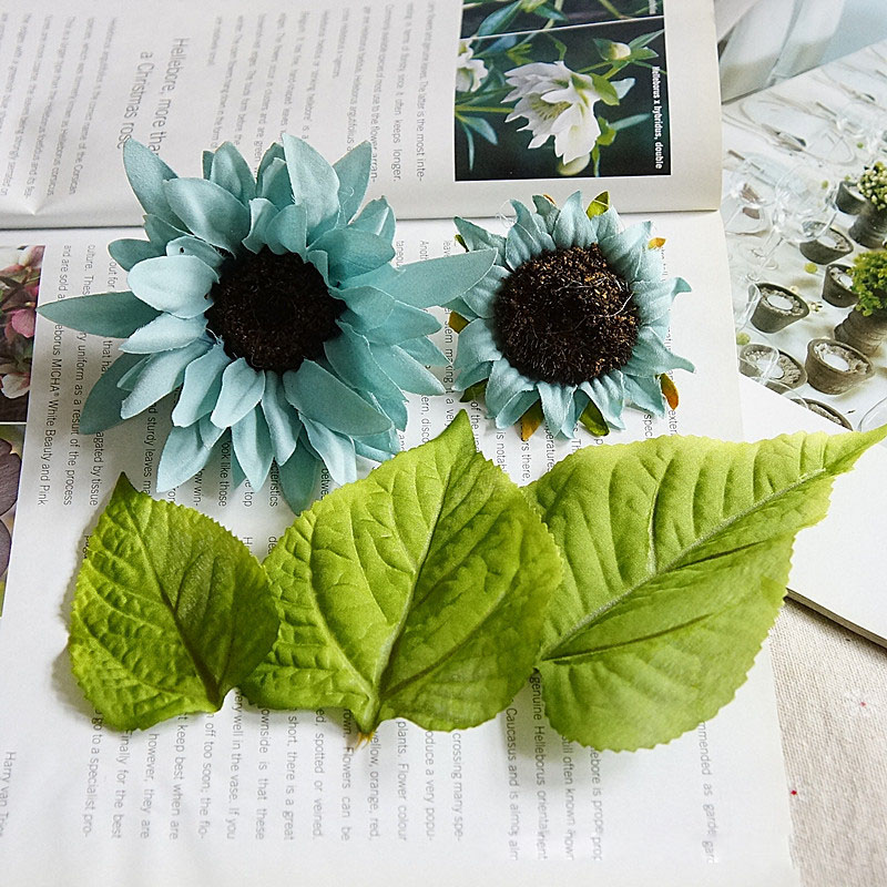 5pcsset sunflower and leaves artificial flower set diy wedding silk 5pcsset sunflower and leaves artificial flower set diy wedding silk flower hawaii jungle party decorative hawaiian wreath a9140 in artificial dried mightylinksfo