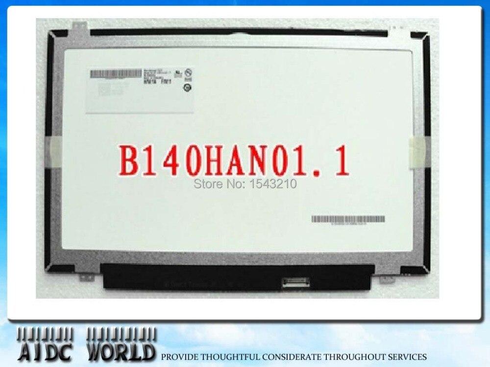 FULL HD 14 inch B140HAN01.2 LP140WF1 SPB1 B140HAN01.3 B140HAN01.0 FOR LENOVO L440 T440 screen 1920*1080 30pin
