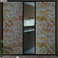 sliding door waterproof glass stained Sticker 80x100cm flower home decor film self Adhesive removable frosted window film 800610