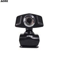 AONI Webcam Mega HD Computer PC Camera With Built-in Noise Reduction MIC For Laptop Desktop USB Drive Free Web Cam Webcameras