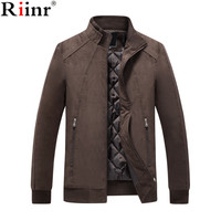 Riinr 2018 New Casual Brand Men Jackets Coat Spring Winter Sportswear Mens Slim Fit Fat coat Bomber Jackets Male Coat
