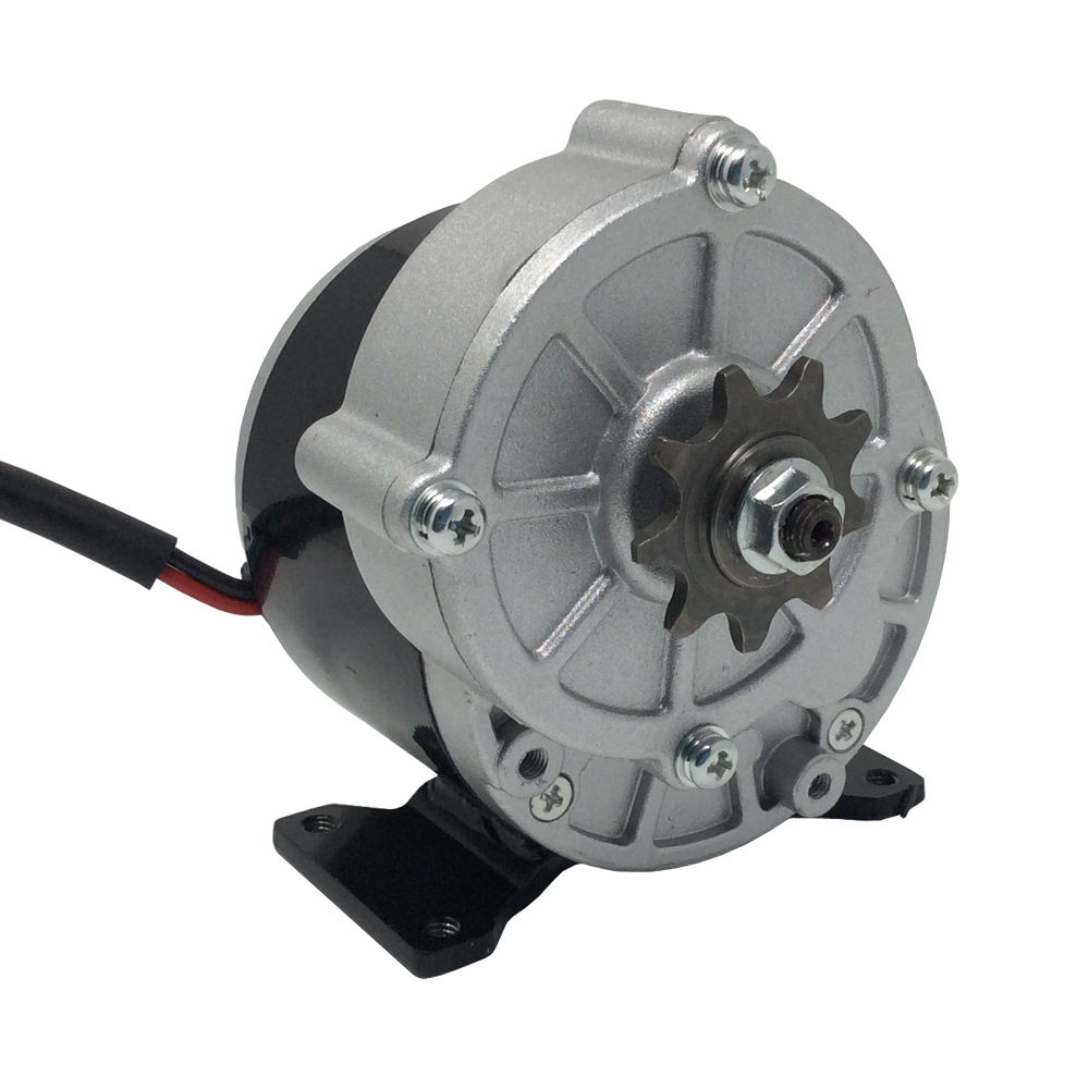 MY1016Z3 DC Scooter Motor 24V 36V Brushed Motor 350W High 380Rpm with Sprocket 9 Teeth Pitch 12.7mm for Electric Bike цена