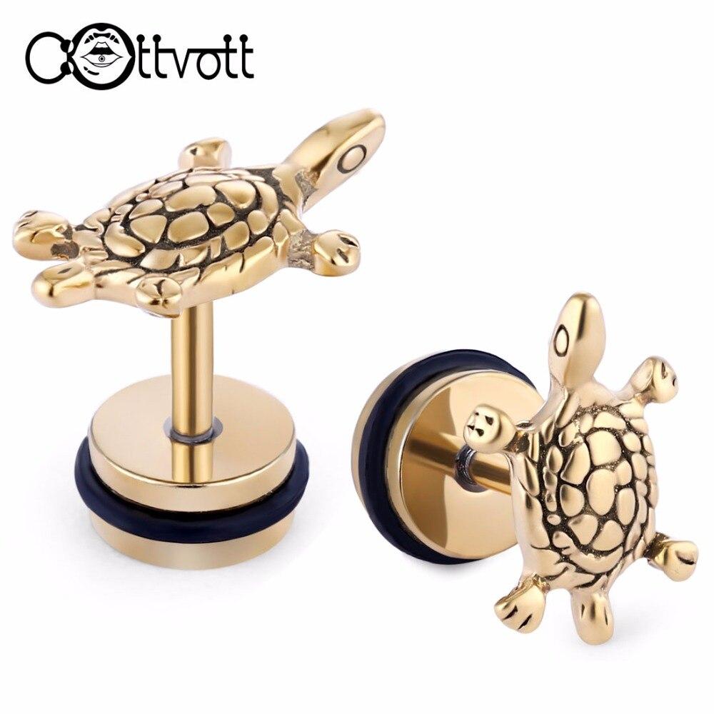 Lot Cute Tortoise Cartilage Stud Earrings Surgical Stainless Steel Ear  Lobe Piercing Oreille Men