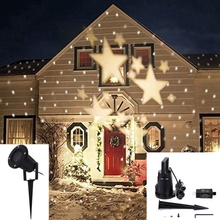 Jiguoor 4W LED Waterproof Star Light Landscape Projector Lamp for Home Christmas Decoration 110-240V