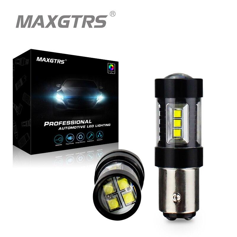2x S25 1157 30 Вт 50 Вт 80 Вт BAY15D Cree чип светодиодный лампы P21/5 Вт автомобиля обратный резервное копирование тормозной Включите парковка световой си...