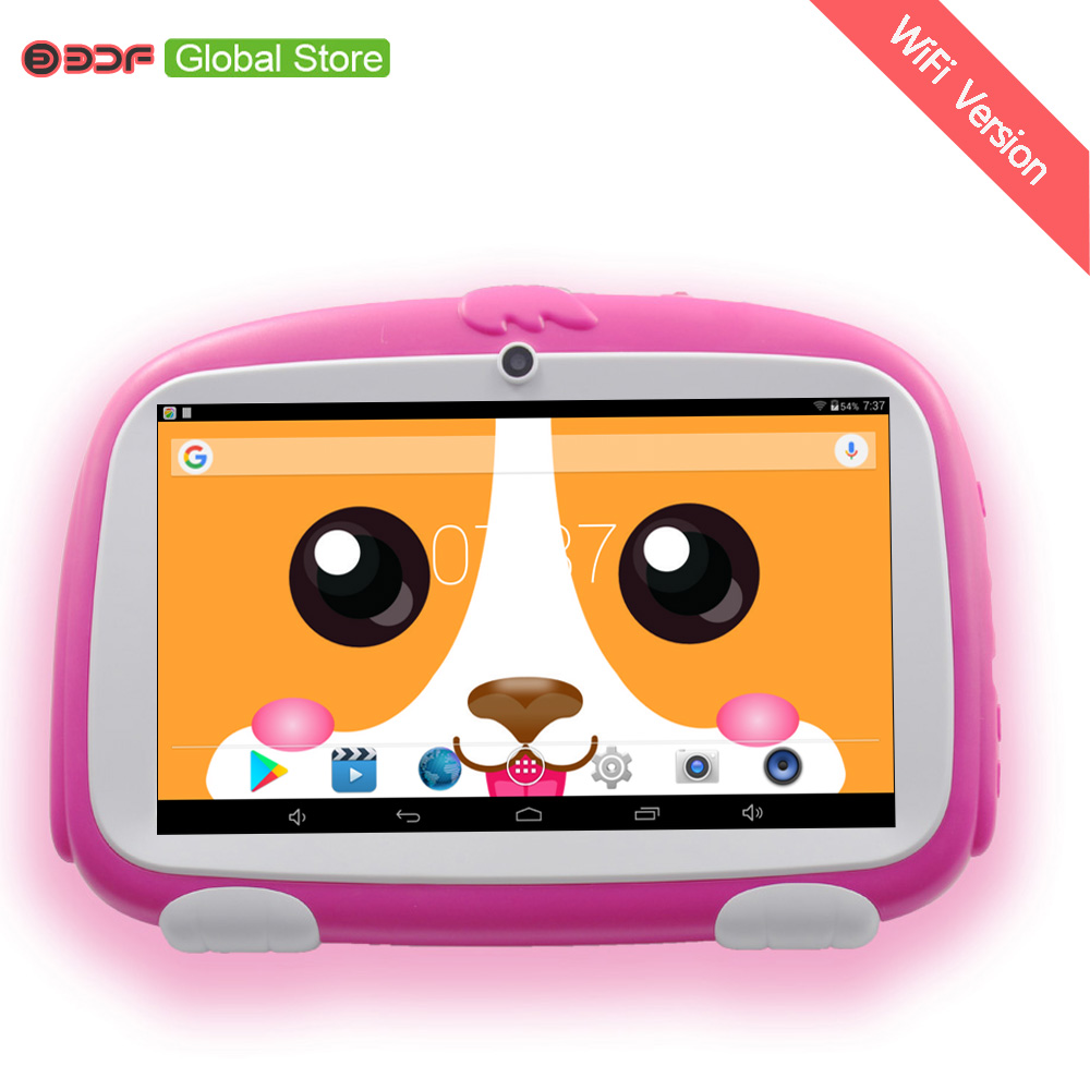 New Design 7 Inch Kids Tablets Pc WiFi Quad Core Dual Camera  8GB Android 4.4 Children's Favorites Gifts
