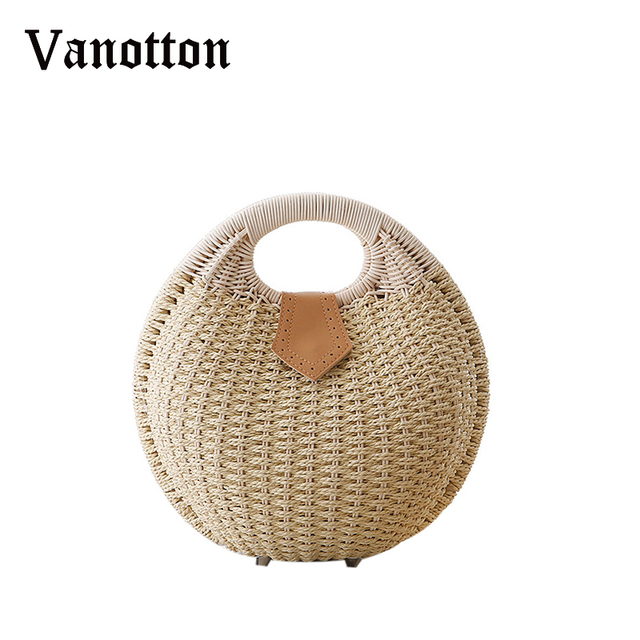 2017 Portable Summer Autumn Beach Bag Small Weave Woven Knitted Handbag Straw Bags Women S Rattan