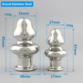 Mini Solid Sound stainless metal material woman anal metal butt plug sex toy annal bead ball sextoy buttplug game for gay couple