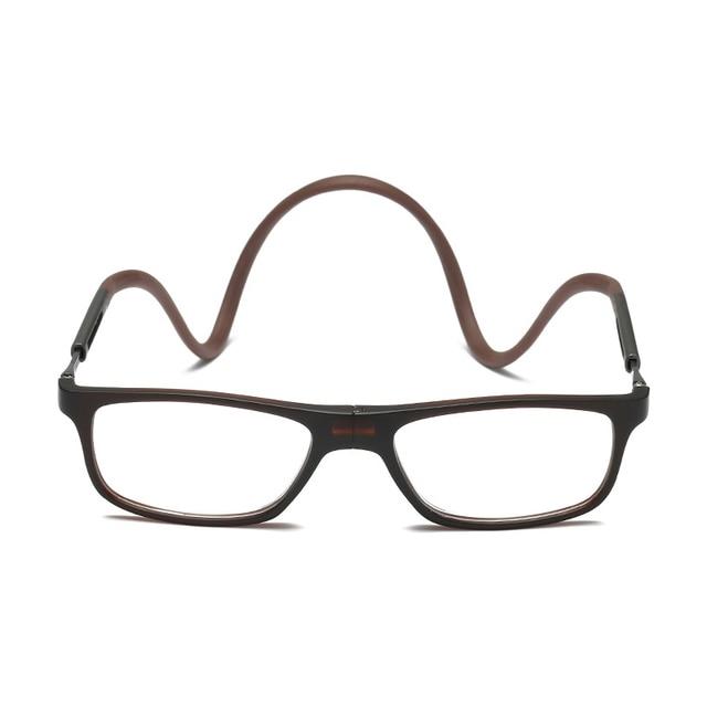 Folding Magnet Reading Glasses Adjustable Hanging Neck Rectangle Glasses Diopter +100 To +400 Presbyopic Eyeglasses 2301