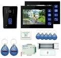 "Freeship by DHL 7"" Intercom Door Phone RFID Door Intercom Camera Strike Door Lock With Power Supply Control Video Intercom"