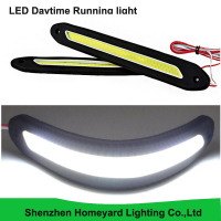 2 Pcs Set IP67 Rubber Flexible 6W 12V Slim Chip COB LEDs DRL Daylight Driving Daytime