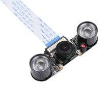 כתום Pi fisheye מצלמה ראיית לילה עבור כתום Pi מחשב/בתוספת/אחד/מחשב בתוספת/בתוספת 2/ בתוספת 2e/PC 2 עם 2 LED פנס
