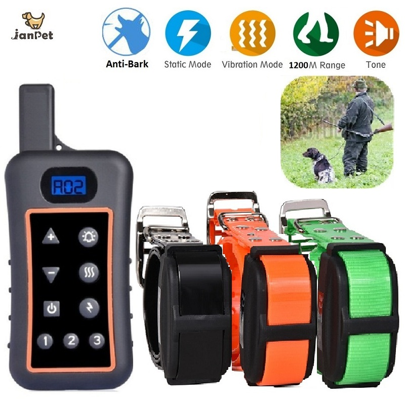 New Shock Collars for Dog Hunting Training Remote Control 1200M Waterproof Electronic Dog Training Collar for