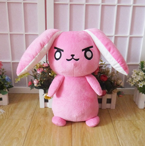 Game Pink Dva Rabbit Plush Toys The Last Bastion OW Ganymede Solf Plush Pillow Dolls Toys for Children Gifts 53CM bookfong octopus plush toys dolls the cute pillow seat cushion backrest the stuffed toys for children christmas gifts