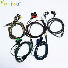 10 ピース/ロットホット販売高品質のカラフルなイヤホン 3.5 ミリメートル配線ヘッドセットインイヤー携帯電話用 MP3 MP4 イヤホン