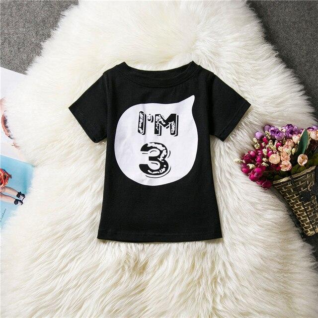 9e4c6a783d295 ماركة قمصان الأطفال صبي فتاة تي شيرت أسود أبيض قمزة أطفال الطفل الصغير طفل  قمم الملابس