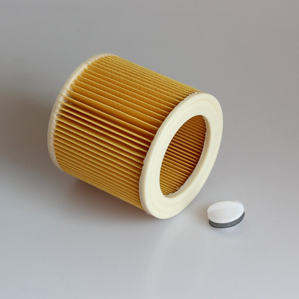 Replacement Filter For Karcher A/WD Series Portable Vacuum Cleaner Filter Element Durable Cleaning Appliance Parts replacement filter for karcher a wd series vacuum cleaner cartridge filter for a2004 wd2 250 vacuum cleaner acc spare part 2pcs