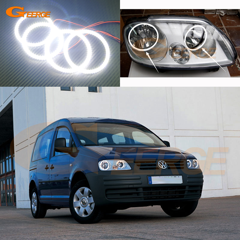 For Volkswagen VW Caddy 2004 2005 2006 2007 2008 2009 Excellent Angel Eyes Ultra bright illumination smd led Angel Eyes kit for alfa romeo 147 2005 2006 2007 2008 2009 2010 excellent angel eyes ultra bright illumination smd led angel eyes halo ring kit