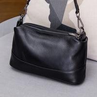Leather leather, slung, small bag women 2018 new fashion, multi layer, multi zipper, single shoulder bag women simple cross bag